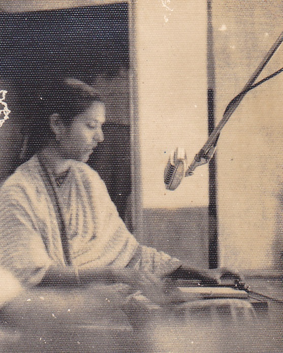 During a Recording in Radio Bangladesh Studio in 1968